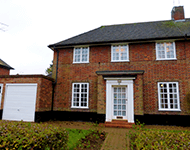 Brick house near Welwyn Garden City